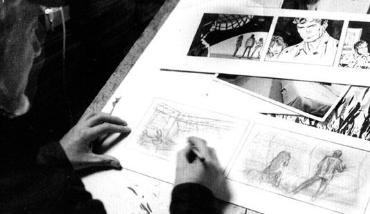 john mclusky at work in his studio