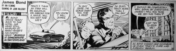 james bond comic art daily express john mclusky