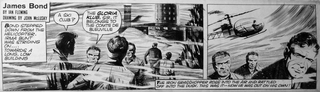 james bond strip cartoon art