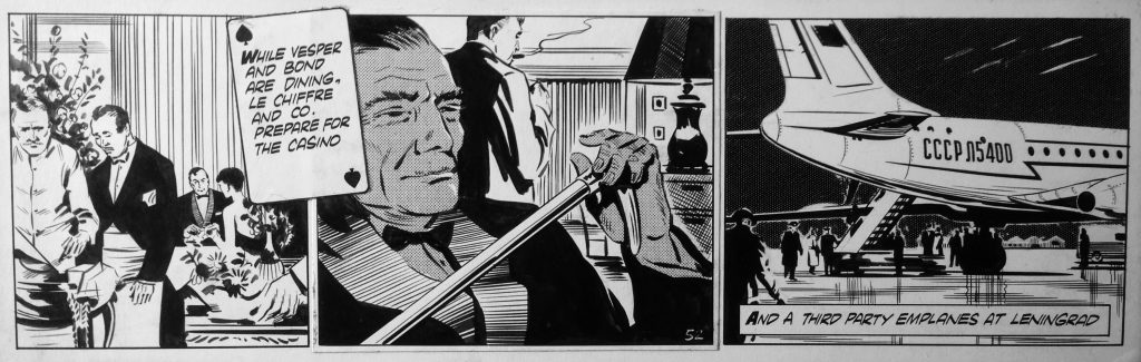 james bond comic art