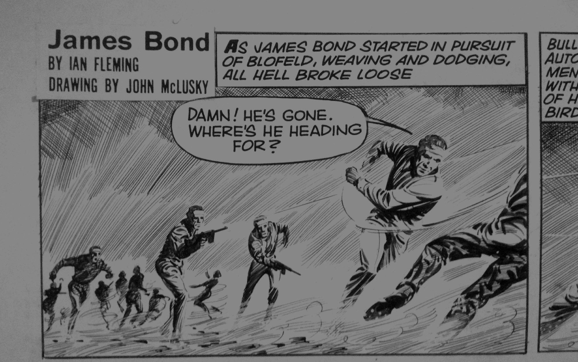 James Bond 007 Comic Art